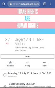 Anti TERF action screenshot